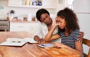 Mother Helps Stressed Teenage Daughter With Homework   Positive Discipline   Wellview Counseling 30076